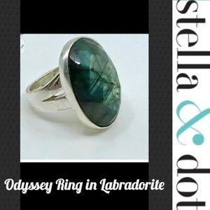 Nwot Stella & Dot Odyssey Ring in Labradorite